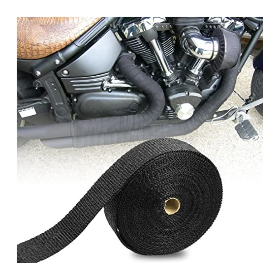 AllExtreme EXSWBB1 Bike Exhaust Universal Silencer Wrap Heat Shield Protector with Clip Compatible for Royal Enfield