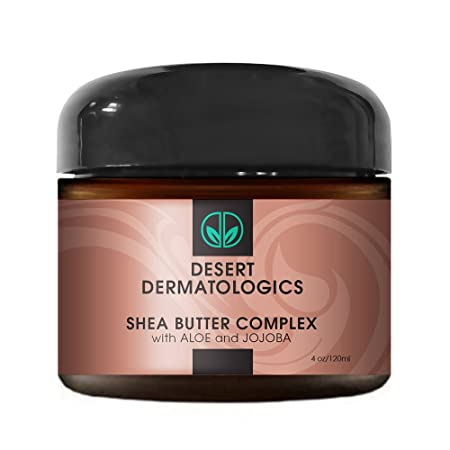 Desert Dermatologics Shea Butter Complex with Organic Aloe and Jojoba 8 Ounce