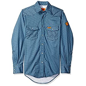 Wrangler Men's Flame Resistant Western Two Pocket Snap Shirt