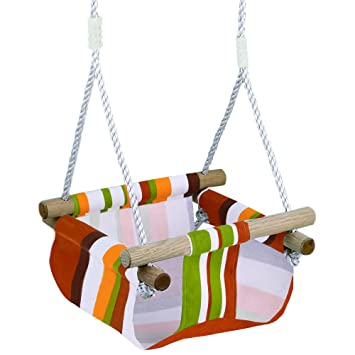 8e9cd25a99f4 Amazon.com  Infant to Toddler Secure Hanging Swing Seat Indoor and ...