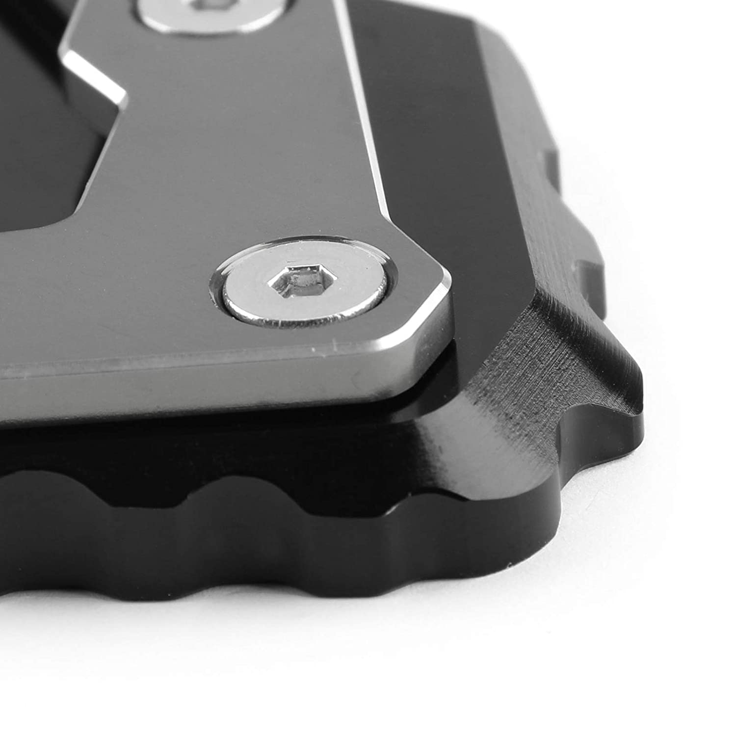 Areyourshop CNC Kickstand Side Stand Plate Extension Pad For B-M-W R1200 GS LC 2017-2018