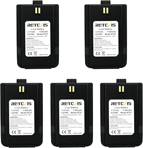 1 Pack Retevis RT21 Two Way Radio Battery 1100mAh Replacement Original Li-ion Battery Compatible with Retevis RT21 Two Way Radio