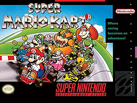 Super Nintendo - Canvas Super Mario Kart 30X40: Amazon.es: Hogar