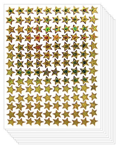 Star School Mini Reward Stickers Kid (Gold, 10 -