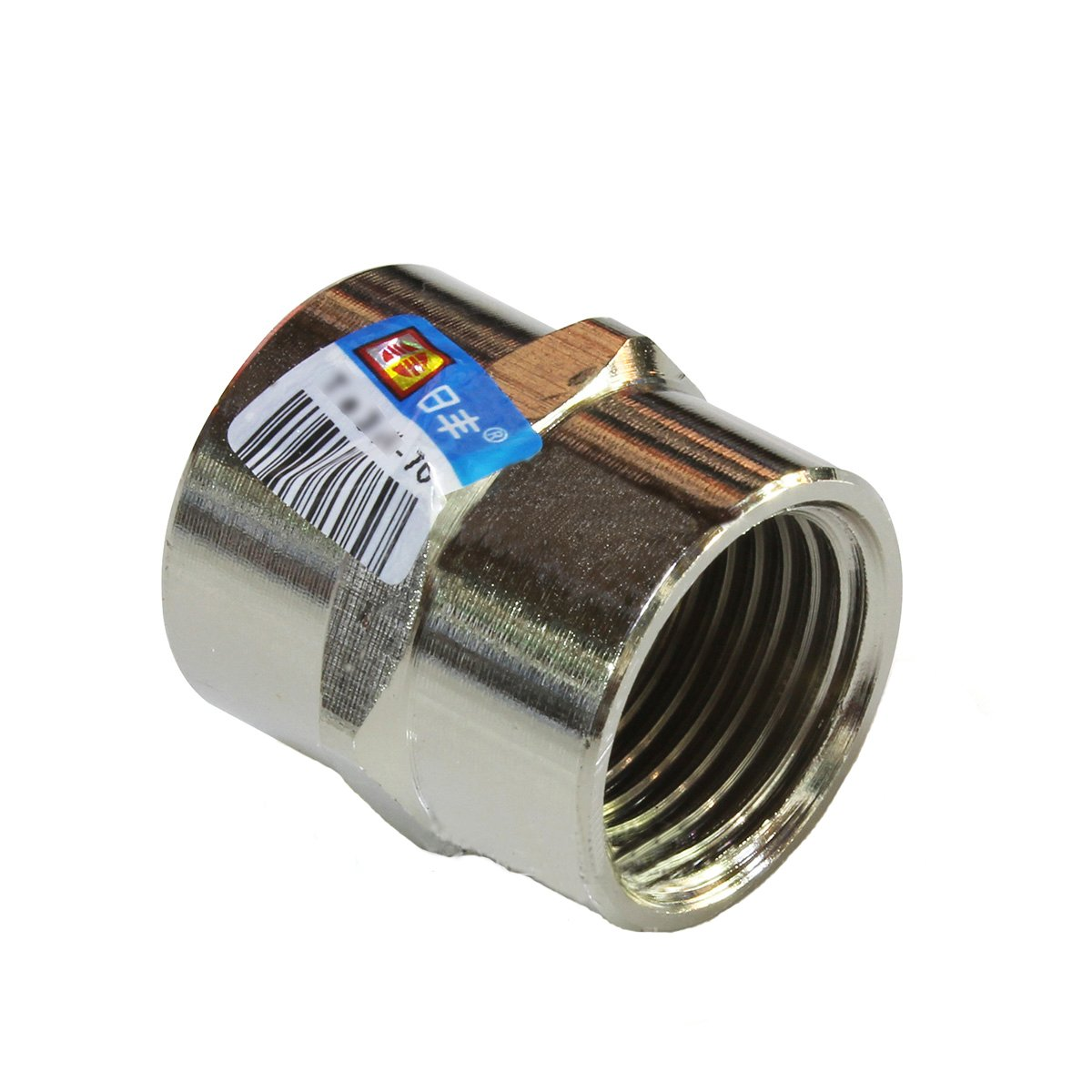 Kingbull 1/2 x 1/2 Inch Thread Pipe Connection Female x Female Screwed Nipple Pipe Fitting Brass Polished Chrome Rifeng