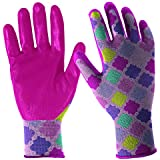 DIGZ Girls' Youth Stretch Garden Gloves with Nitrile Coating