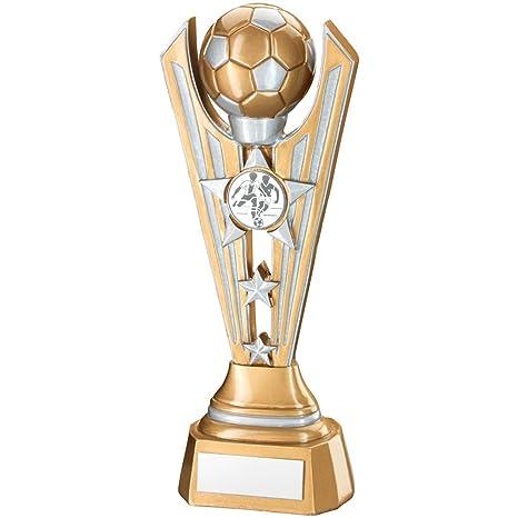 305 mm Tri-Star trofeo con diseño de balón de fútbol, dorado y ...