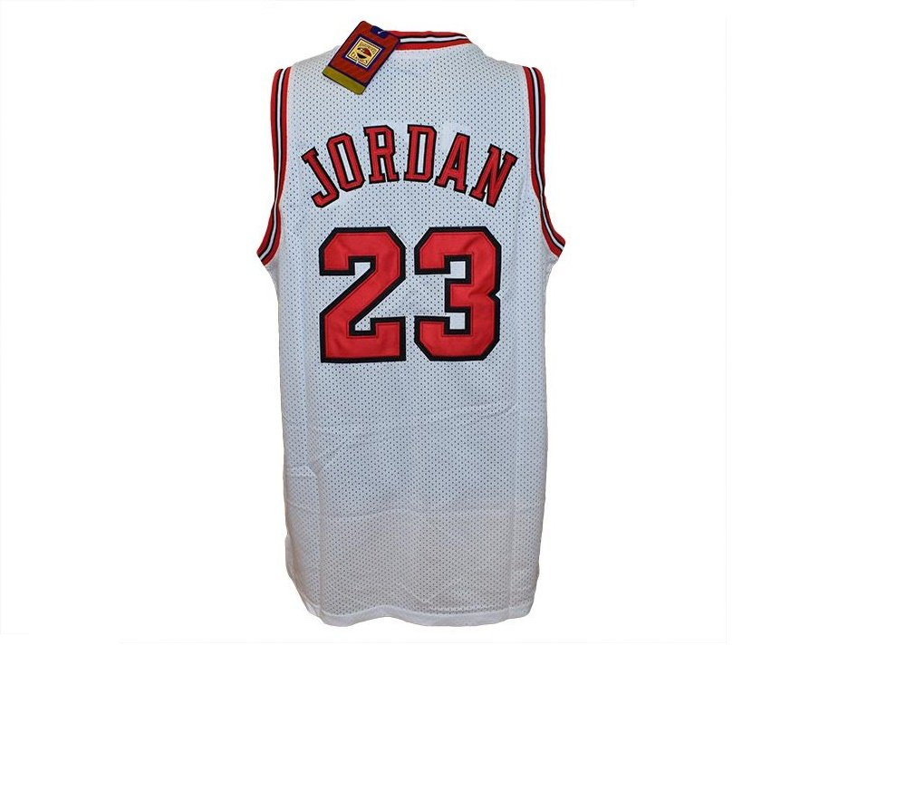 HARDWOOD CLASSICS Camiseta Blanca NBA Retro Vintage - Michael ...