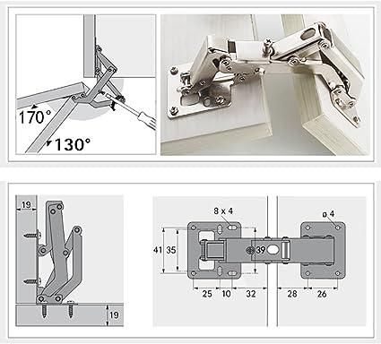 16 Fixation SCR 2X qrity Pack De Meuble Cuisine Charnières de porte armoire 170 degrés