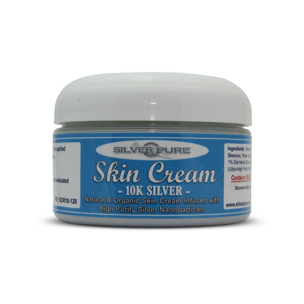 Nano Silver Skin Cream 10,000ppm - 4 Ounce Jar