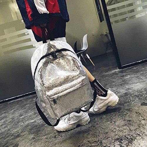 femmes de sac décontracté paillettes de pour à de à voyager Sac à dos poisson de femme Argent Écailles dos Sansee Yw8qq