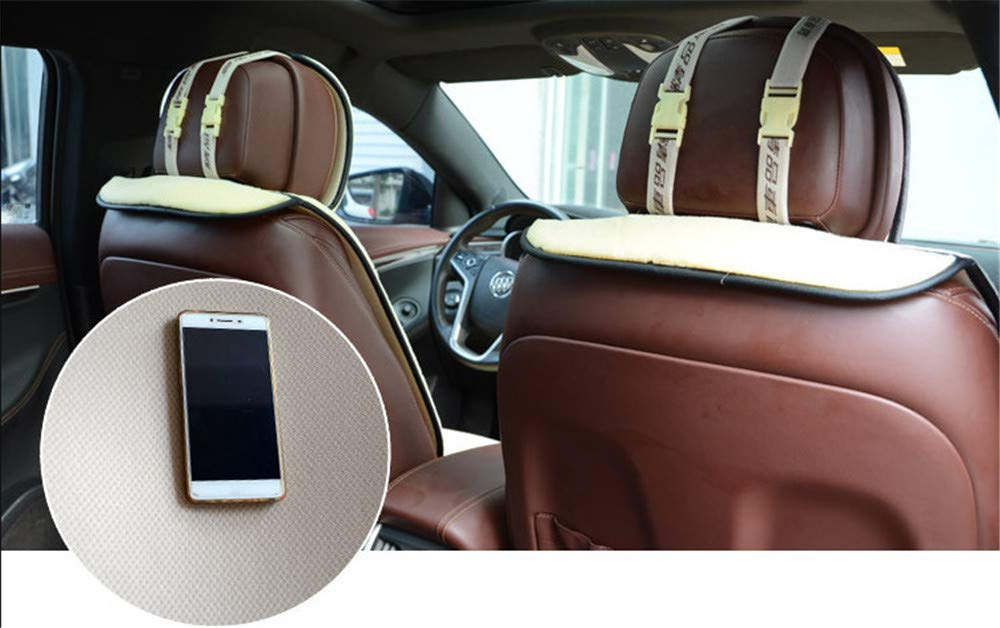 Winter Warme Sitzkissenbezug Pl/üsch Auto Sitzauflage Sitzbezug mit Rei/ßverschluss System Schwarz Faux Lammfell Autositzbezug