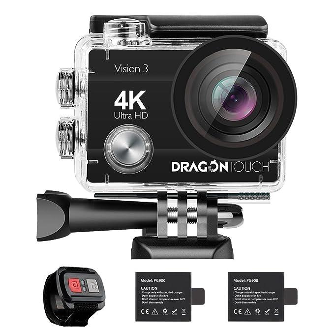 Amazon.com: Dragon Touch Cámara de acción 4K 16 MP Sony ...