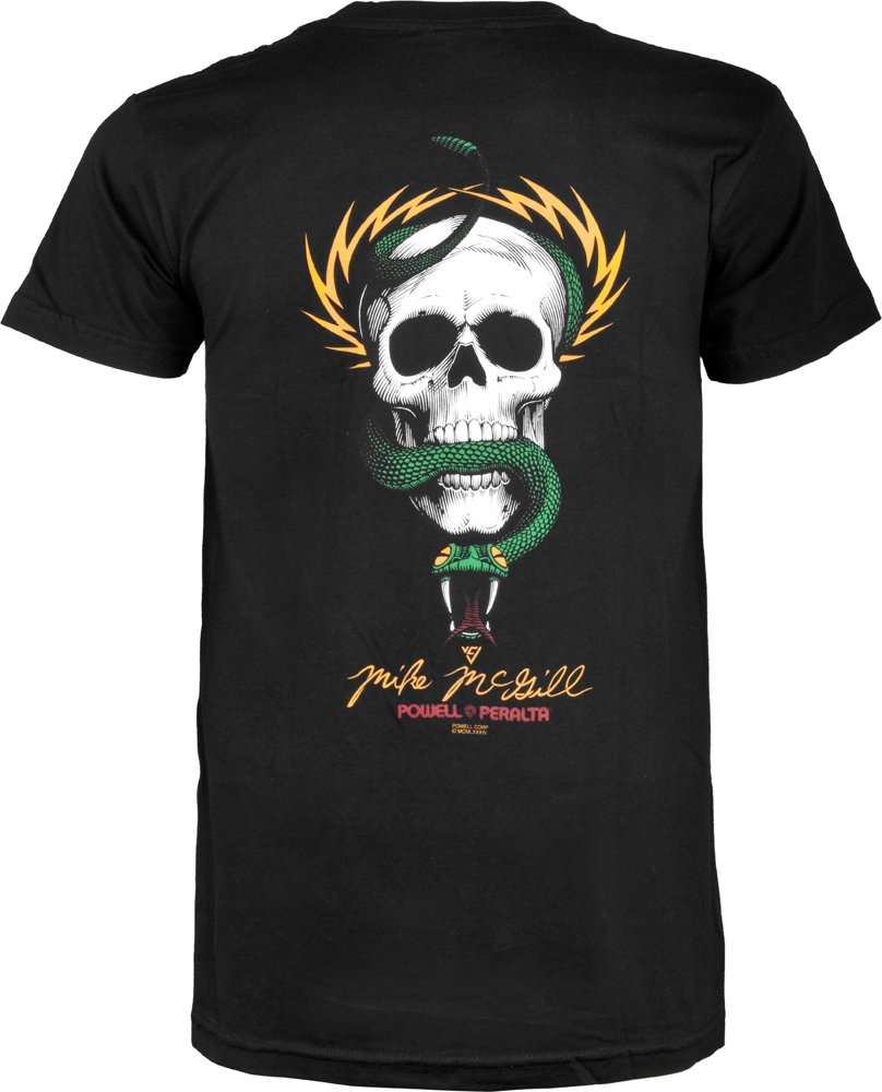 Powell-Peralta McGill Skull and Snake T-Shirt, Black, Large by Powell-Peralta (Image #1)