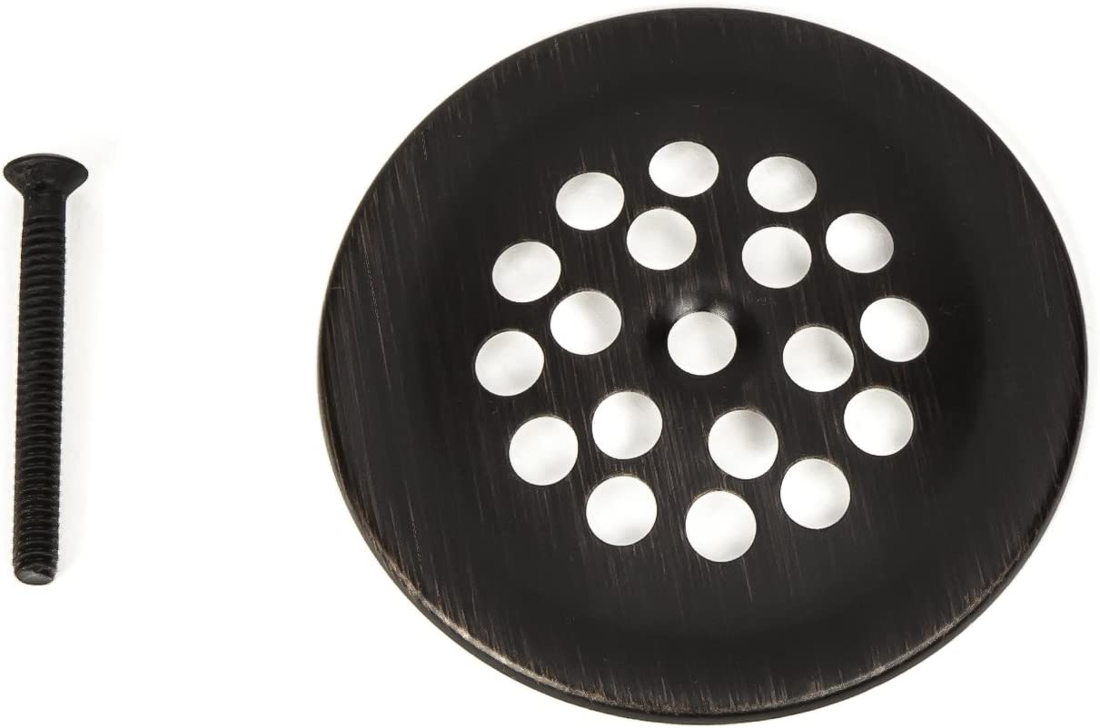 Oil Rubbed Bronze PF WaterWorks PF0915-ORB Bathtub//Bath Tub Shoe Grid//Strainer Cover 2-7//8 Inch with Matching Screw for use with Trip Lever Style Drain Assembly