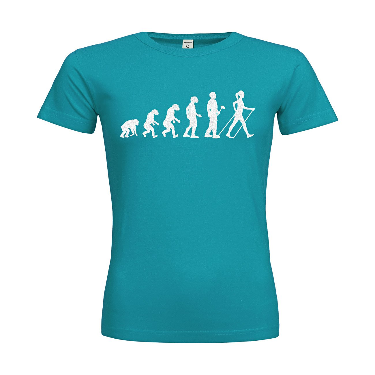 MDMA Frauen T-Shirt Classic Evolutionstheorie Nordic Walking Frau N14-mdma-ftc00378