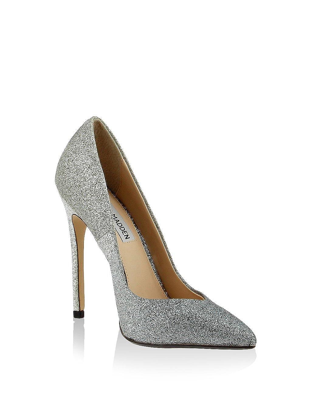 Wicketg Silver Glitter Pumps-3.5