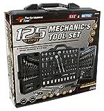 Performance Tool W1525  SAE/Metric 125 Piece Mechanics Tool Set (1/4', 3/8' & 1/2' Drive)