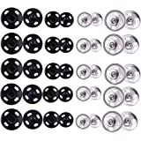 36 NEW PRESS STUDS  BUTTON SNAP FASTENERS POPPERS TITCH BUTTONS PADS SEWING 8mm