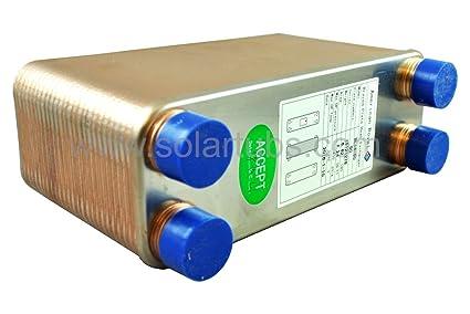 Solar Brazed Plate Heat Exchanger - 50 Plates 300K BTU: Amazon.ca ...