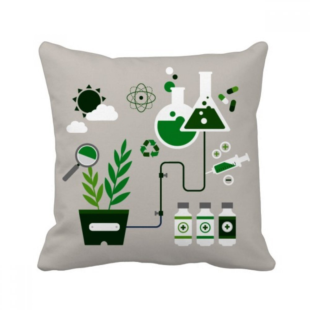 Chemical Reaction Tool Work Drum Chemistry Square Throw Pillow Insert Cushion Cover Home Sofa Decor Gift