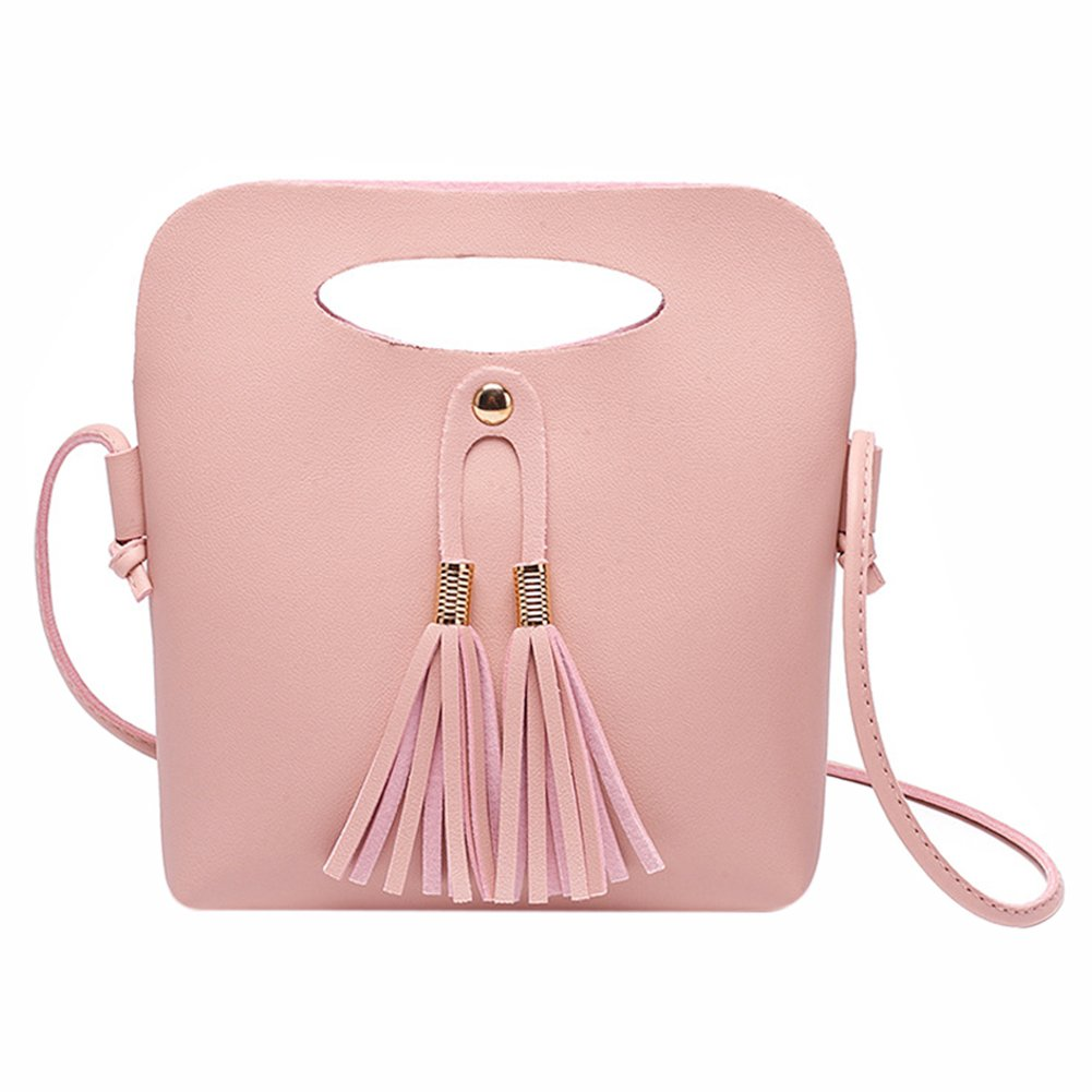 RARITY-US Women's Girls Cute Tassel  Coin Purse Crossbody Bag Top Handle Handbag Shoulder Bag