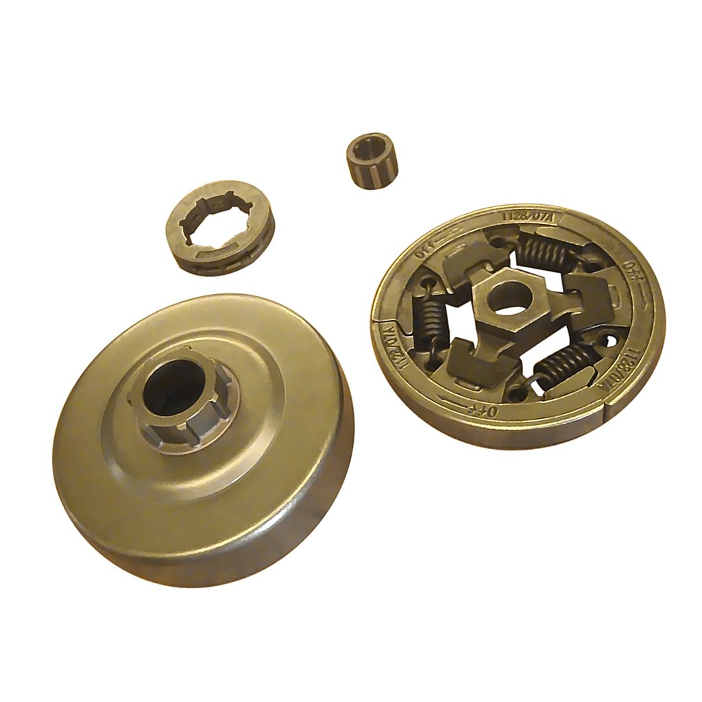 FITYLE Brass Clutch Drum Sprocket Rim with Bearing 7x7x0.5cm For STIHL MS361 044 046 MS440