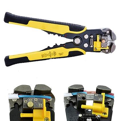 Pelacables automático, sondereu Alicate Regulable sobre ajuste tornillo autoajustable Stripper Terminal de Tool AWG 24