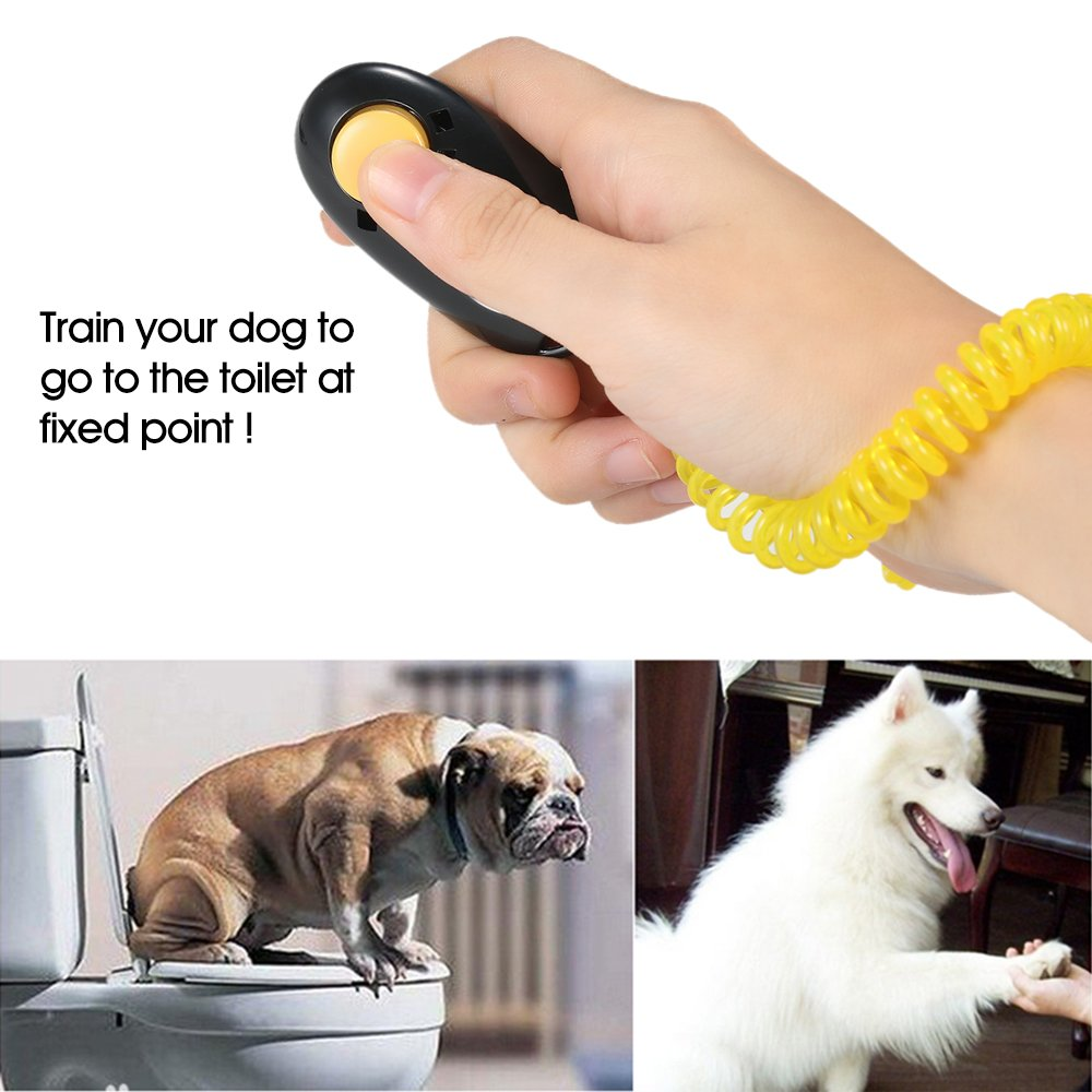 Anself Clicker Clicker Training Clicker for Dog Cat Pet Includes Bracelets Pack of 7