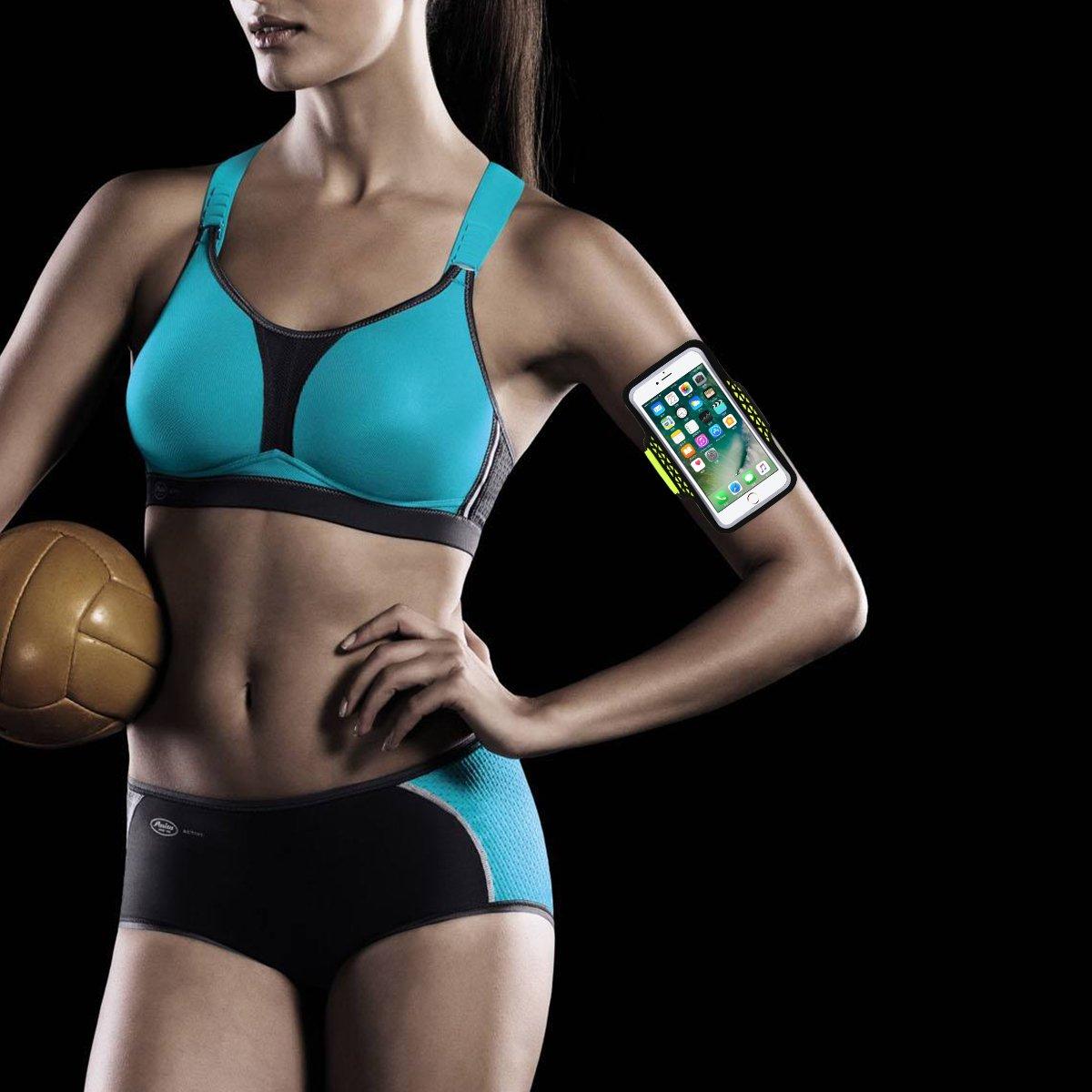Haissky deporte running Armband a prueba de sudor brazalete para iPhone 7 Plus 6 Plus 6S Plus Samsung Galaxy S5 S6 S7 edge Plus Nota 5 con ID tarjeta de Cr/édito Dinero Soporte,para 5.5-5.8 tel/éfono