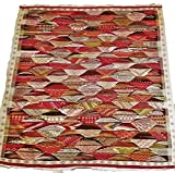 Moroccan Zanafi Tribe Berber Wool Kilim Area Rug 60''x56'' [SHIPS FROM WITHIN USA]