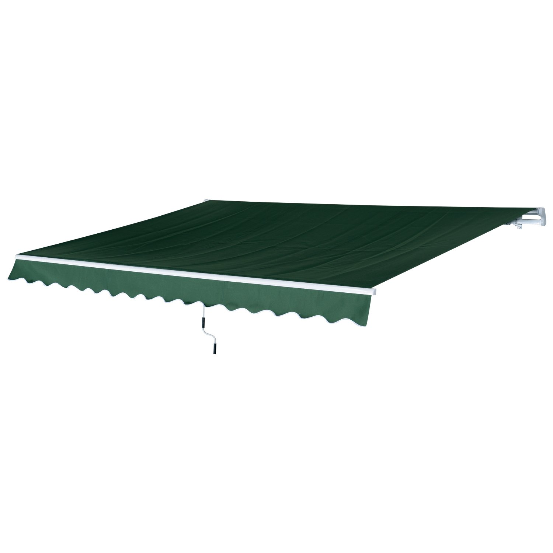 Patio, Lawn & Garden Outsunny 12x8.2ft Manual Retractable Patio ...