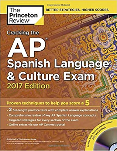 Amazon cracking the ap spanish language culture exam with cracking the ap spanish language culture exam with audio cd 2017 edition proven techniques to help you score a 5 college test preparation papcom fandeluxe Image collections