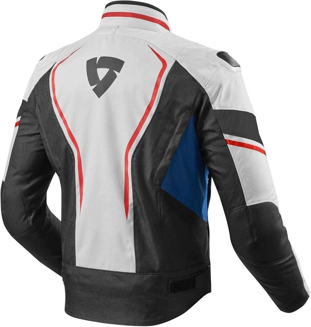 Rev It Vertex Motorcycle Jacket XL White Blue FJT244-3300-XL