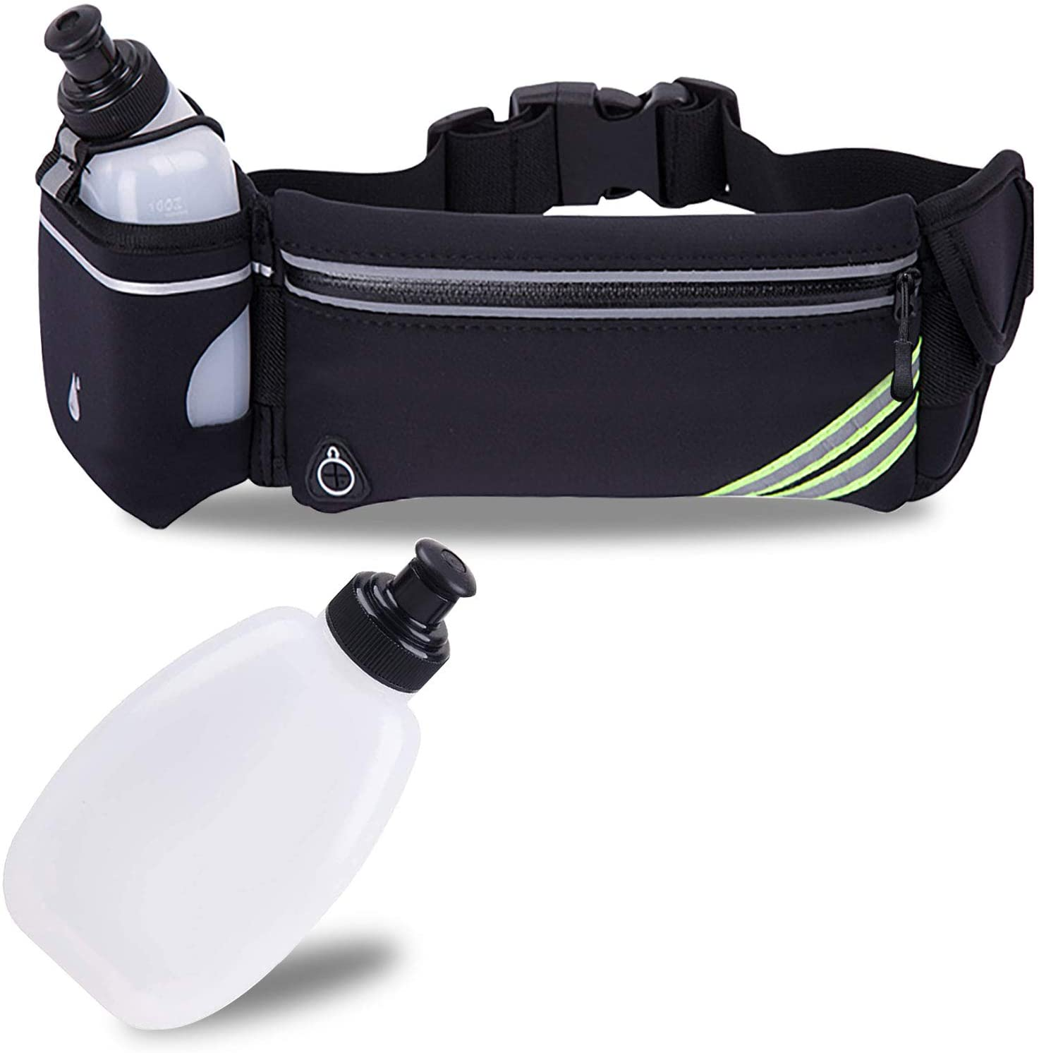 and Huawei Water Bottle Waist Pack with 10 Oz Run Flask and Grey Hair Band Samsung Hydration Belt Fanny Bag with Touch Screen Pocket for iPhone and Walking Hiking Suitable for Jogging