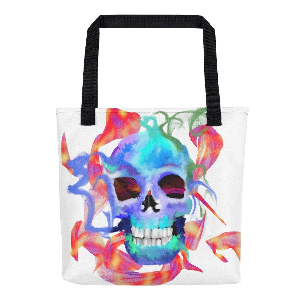 Colorful Rainbow Skull Tote bag
