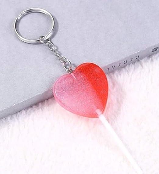 Amazon.com: 1 llavero de resina con forma de corazón para ...