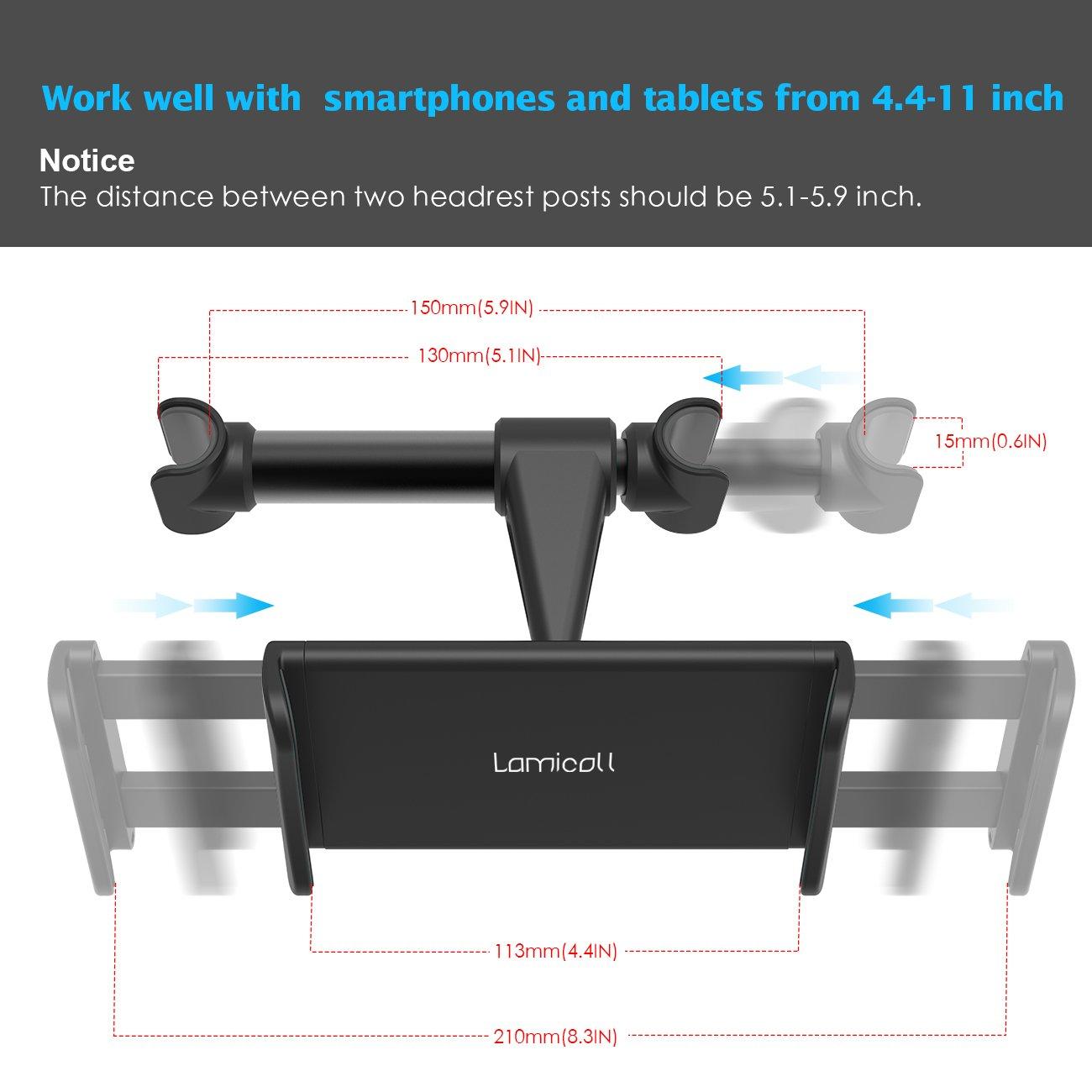 Lamicall Soporte Tablet Coche Soporte Tablet para Reposacabezas