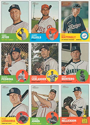 2012 Topps Heritage MLB Baseball Series Complete Mint 425 Card Set in 1963 design with Mike Trout (Most Popular Baseball Players Of All Time)