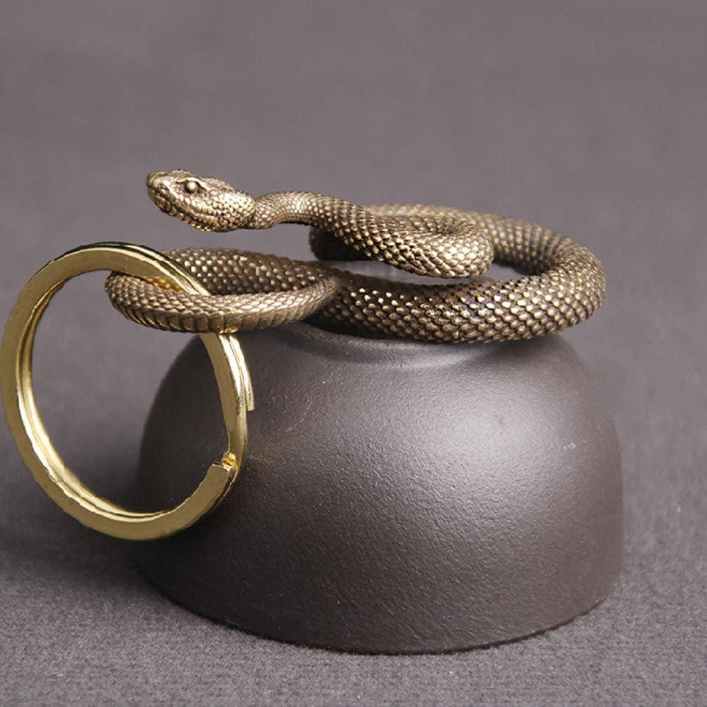 figuras d/ía para tetera llavero 5 collar FAVOMOTO Llavero con forma de serpiente dise/ño retro 95 cm 2 x 2 escultura de serpiente ornamento decoraci/ón Feng Shui