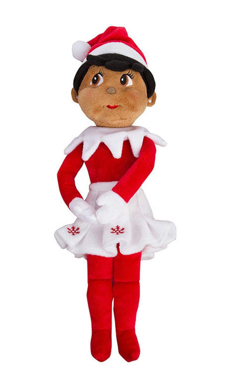 Elf on The Shelf Christmas Plushee Pals Bundle Dark Skin Brown Eyed Boy and Girl 1 1
