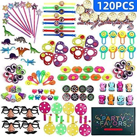 ZHONGLI 120 piezas de juguetes de fiesta para cumpleaños de ...