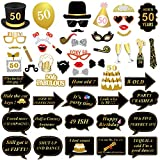 Best Props - 50th Birthday Photo Booth Props, Konsait 50 Black Review
