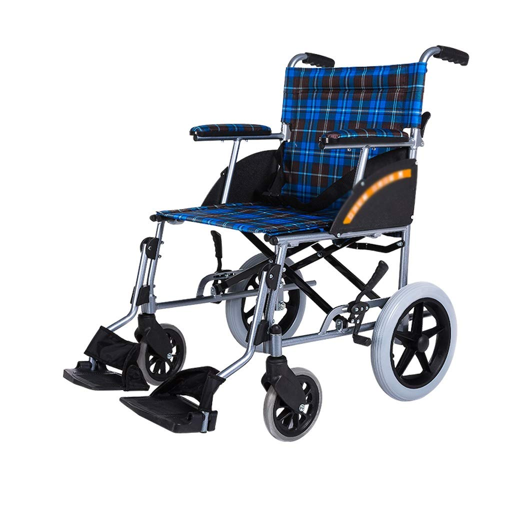 XXHDEE Ultra-Light Folding Aluminum Alloy Manual Wheelchair Home Elderly Disabled Trolley Walking aids by XXHDEE