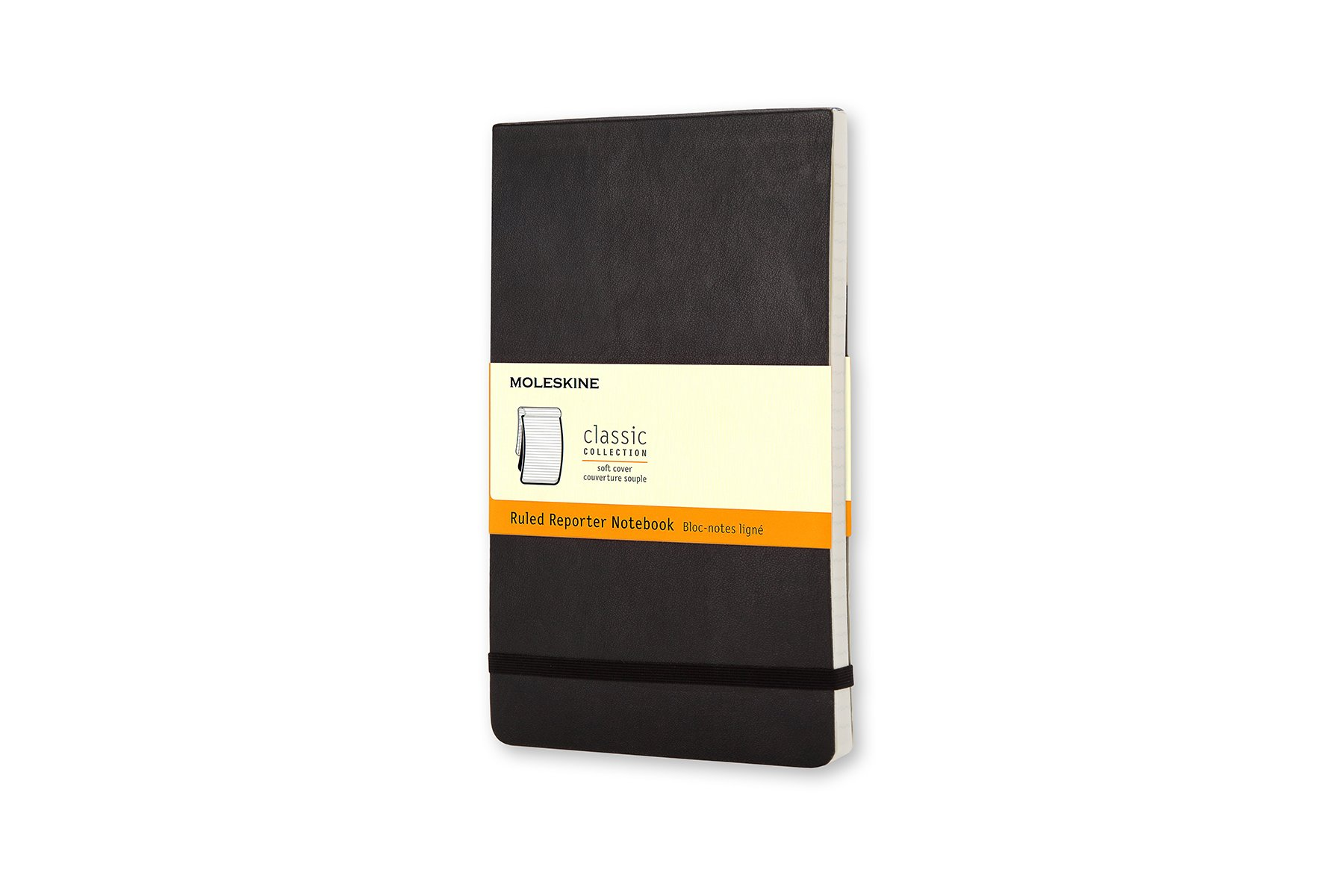 Moleskine Classic Soft Cover Reporter Notebook, Ruled, Large