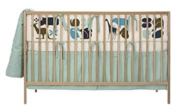 Amazon Com Dwellstudio Baby Gio Crib Set Aqua Discontinued By
