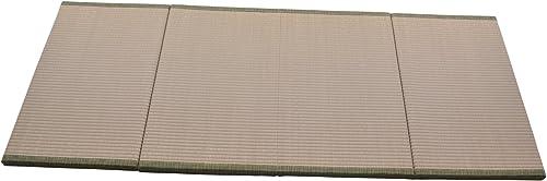 MustMat Japanese Traditional Tatami Mat Futon Mattress Firm and Comfortable 35.4 x78.7 x1.2 Green Natural Rush Grass Folds Easily Great