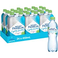 Mount Franklin Lightly Sparkling Water Lime 24 x 450mL
