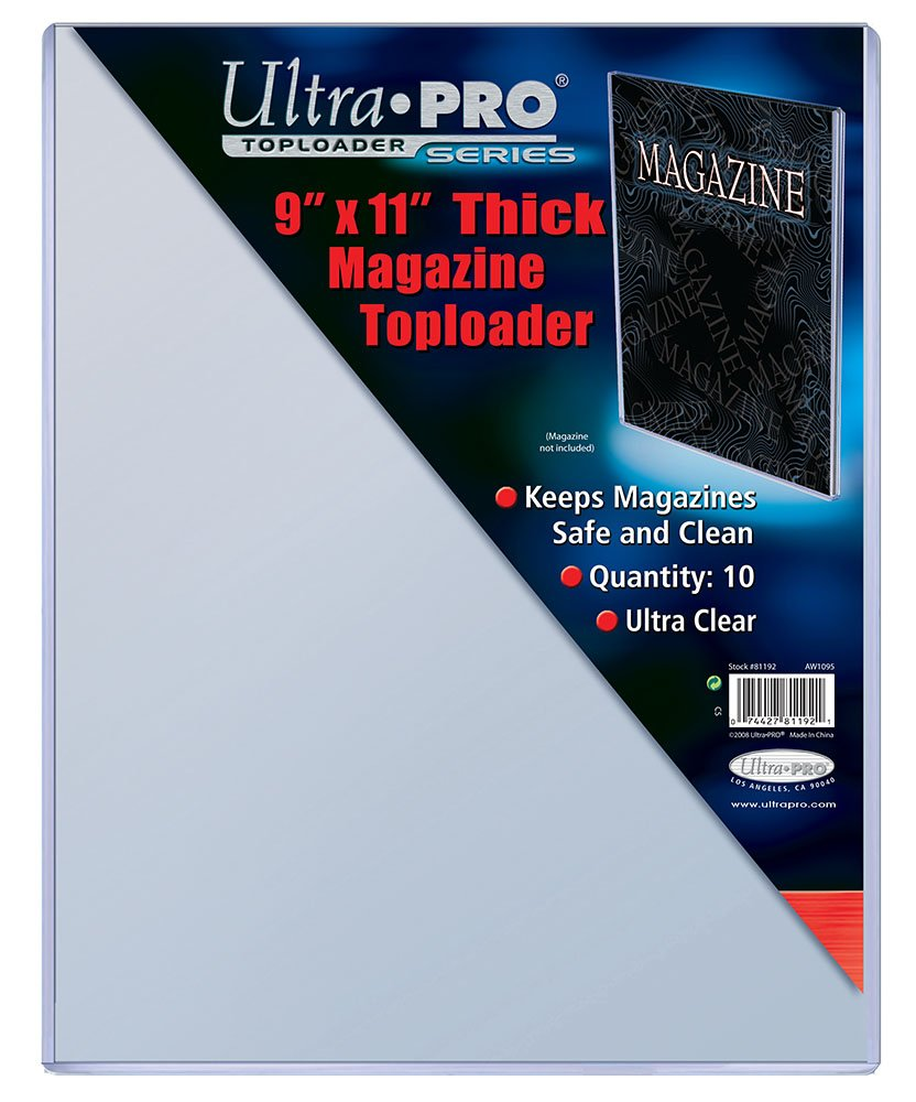 Ultra Pro 9'' X 11-1/4'' Thick Magazine Toploader 10ct by Ultra Pro