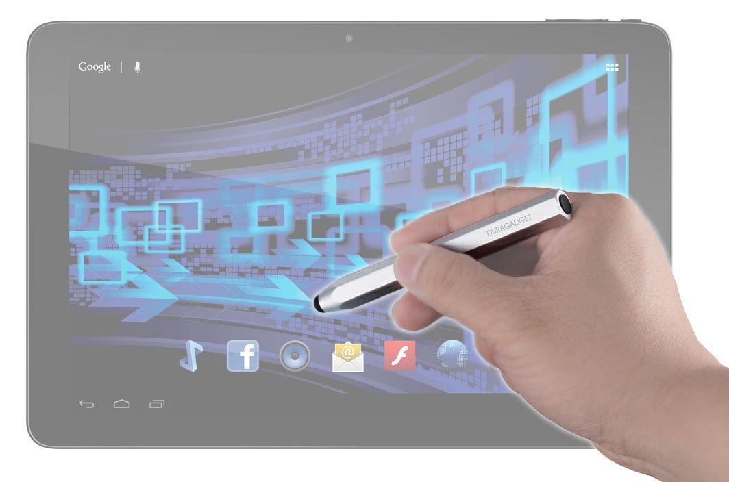 DURAGADGETスタイリッシュなシルバー'クレヨン'スタイルアルミニウムスタイラスペンwith Capacitiveラバーチップfor the新しいSamsung & Tab Galaxy Note Pro 12.2 & B00HZM5EQG Galaxy Tab 3 Lite B00HZM5EQG, AMAKUSA産直便:3db6c7a1 --- itxassou.fr